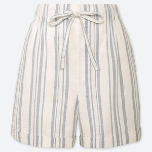 UNIQLO Linen Relaxed Shorts   High Rise